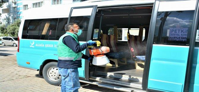 Aliağa Belediyesi Hijyen Çalışmalarına Ara Vermiyor