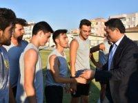 Aliağaspor FK Antrenmanına Sürpriz Ziyaret