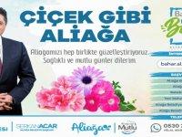 Aliağa Belediyesi'nden Her Balkona Çiçek
