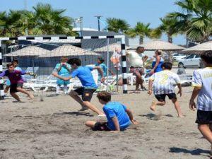 Mavi Bayraklı Ağapark'ta Plaj Futbol Şenliği